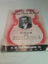 Violin Merle Isaac Book One String Class Method Music Book