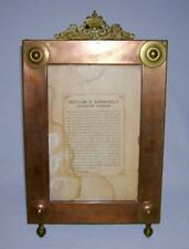 Hand Crafted Copper Art Deco PICTURE FRAME w/Brass Accents (Gregorian Chant)