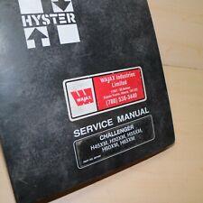 Hyster Challenger H45xm H50xm H55xm H60xm H65xm Forklift Service Repair Manual