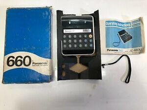 Panasonic JE-660U Electronic Calculator Japan Vintage