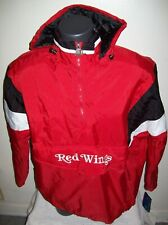 DETROIT RED WINGS 1/2 Zip Pullover Jacket STARTER RED/BLACK/WHITE  LARGE