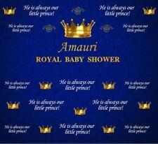 6x8ft Vinyl Royal Baby Shower Blue Prince Crown Photo Studio Backdrop Background