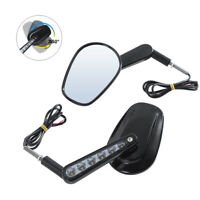 Black Rear View Mirrors Turn Signal For Harley Davidson VROD Muscle VRSCF NEW