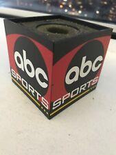 Rare ABC Sports Microphone Mic Flag Cube Television NR MINT!