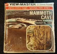 New listing SEALED MAMMOTH CAVE 2 National Park Kentucky Vintage View-Master Reel Pack A849