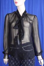 Authentic Dolce&Gabbana Women's Silk  Shirt US 10 IT 44