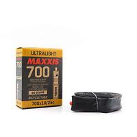 Maxxis Ultralight 700x18/25C Presta Valve 48mm Road / Racing Bike Tube Tyre Tire