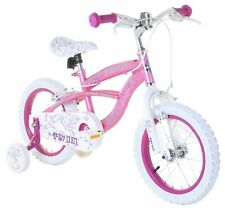 Fairies 14 Inch 1 Gear Steel Frame Girls Bike - Pink