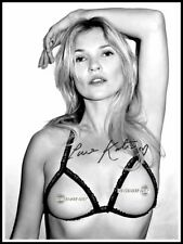 Kate Moss, Autographed, Cotton Canvas Image. Limited Edition (KM-5)
