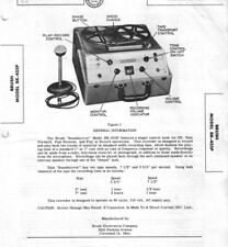 MANUAL & SCHEMATIC REEL TO REEL RECORDER BRUSH MODEL BK-455P SOUNDMIRROR