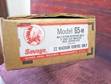 SAVAGE Model 65-m 22 mag Rimfire Gun Original Factory BOX ONLY