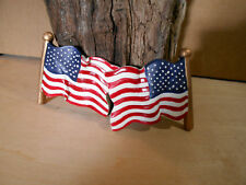 """New 3"""" x 3"""" Resin American Flag Frig Extra Strong Magnets"""