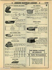 1935 ADVERT Griswold Skillet Skillets Corn Stick Pan Spider Chicken Fryer