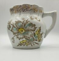 """3 3/4"""" Pitcher marked Virginia with Poppy Pattern Antique Porcelain"""