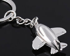 Classic Airplane Aircraft 3D Pendant Keyring Keychain Key Ring Chain