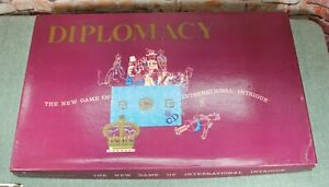 Vintage Diplomacy Board Game by Games Research INC 1961