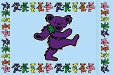 GRATEFUL DEAD PILLOWCASE Purple Dancing Bear NEW OFFICIAL MERCHANDISE (Deadhead)