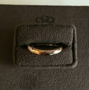 Links of London 18ct Yellow Gold Vermeil Essential Wave Ring RRP £120  X Large