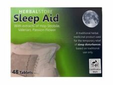 HERBAL STORE SLEEP AID TABLETS ❤SLEEPING ANXIETY ❤   Box of 48