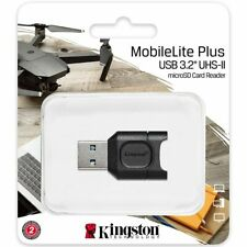 Kingston® MobileLite Plus USB 3.2 UHS-II microSD Card Reader for micro SDHC SDXC