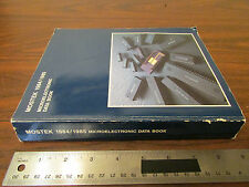 Mostek Microelectronic Data Book 1984/1985 Vintage Computer Cpu's