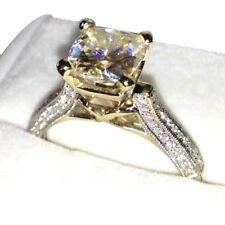 .14K White Gold Over 2.45 Ct Diamond Round Brilliant Anniversary Engagement Ring