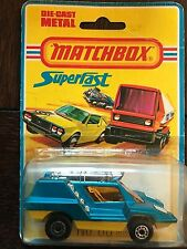 MB-68d Cosmobile - blue body, yellow, Matchbox, Superfast with US Blisterbox