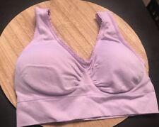 Womens Genie Bra Sz XS/S Light Purple Wire Free