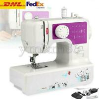 12 Stitch Electric Portable Mini Sewing Machine Overlock 2 Speed Foot Pedal DHL