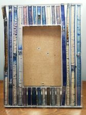 Blue bamboo core picture frame 4x6 hand cast in Thailand