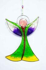 Multi Colour Mandala Sun Catcher 15cm Stained Glass Effect