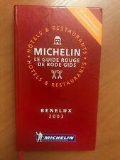 Guide Michelin Benelux 2003