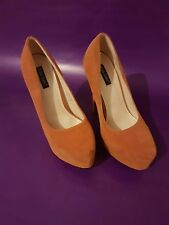 Plateau Pumps orange Größe 37
