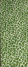Baekgaard Silk Tie Vera Bradley Animal Motif Bright Green NIB Leopard Cheetah
