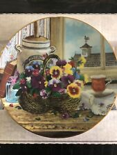 "W L George 1991 Plates Gardeners Delight 8"" Collectors Plate With Certificate"