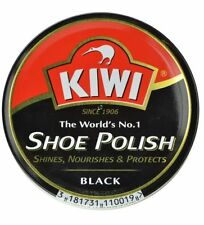 KIWI Black Wax Rish Shoe Polish Shines, Protects & nourishes Your Shoes 23g