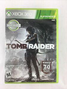 Tomb Raider -- Platinum Hits (Microsoft Xbox 360, 2014) GAME COMPLETE w/MANUAL
