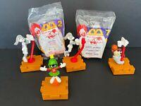 Vintage 1996 McDonalds Happy Meal Warner Bros Looney Tunes Space Jam Lot of 6