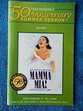 Mamma Mia! - Casa Manana Theatre Playbill w/Ticket - September 14th, 2008