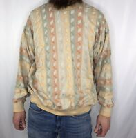 Vintage 90s Tundra Canada Sweater Men L Large Pullover Biggie Cosby Coogi Style