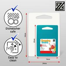 More details for 2 plastic chopping board strong non slip kitchen food cutting boards