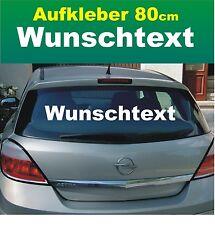 "Auto Heckscheiben-Aufkleber ""Wunschtext"" 80cm weiß Klebebuchstaben Wunschmotiv"