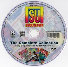 SINCLAIR USER Magazine ALL 134 ISSUES ON DISK+BONUS Spectrum/ZX81/QL Games