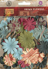 Prima Flowers 36 Flowers Stationer's Desk Collection Scrapbook PRIMA New, 575441