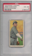 1909 T206 JIMMY SHECKARD GLOVE SHOWING  PSA 4 SWEET CAPORAL 350 460 FACTORY 42