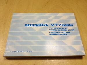 Honda VT 750C Manual de Instrucciones/Owner's Manual (1986)