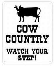 funny man cave sign plastic cow country watch your step farm patty pattie field