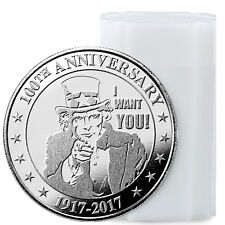"Roll of 20 Uncle Sam ""I Want You"" 100th Anniversary 1 oz Silver Rounds SKU47546"