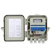 1x12 FTTH PLC Fiber Splitter Outdoor Distribution Box Fiber Optic Terminal Box