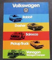 ORIGINAL 1980 VOLKSWAGEN FULL LINE DELUXE BROCHURE ~ 12 PAGES ~US VERSION ~VW80
